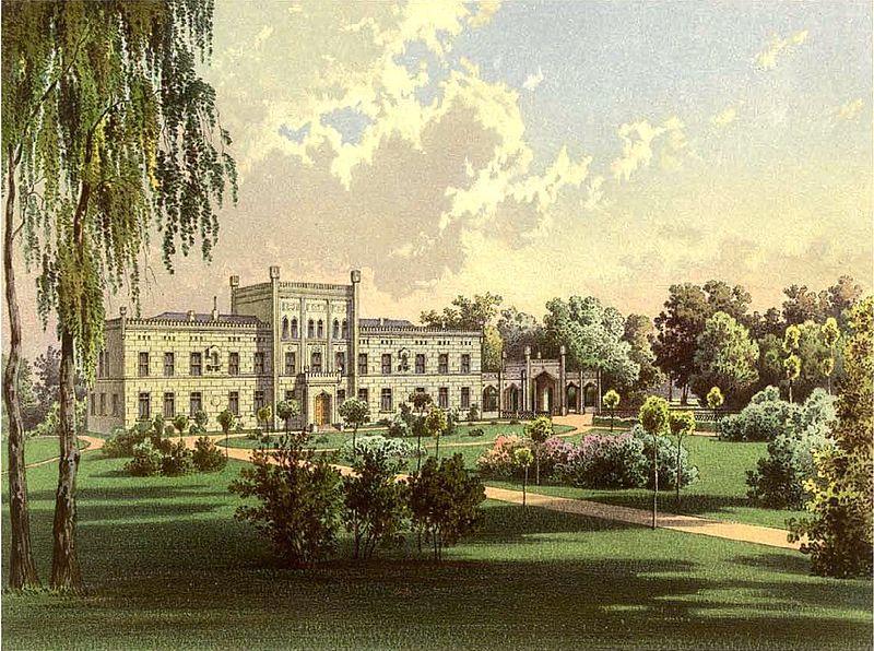 Schloss Krüden um 1860, Sammlung Alexander Duncker - Quelle: wikipedia commons